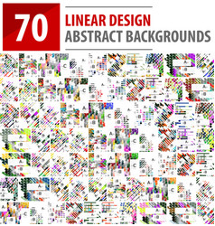 Mega collection of linear design backgrounds vector
