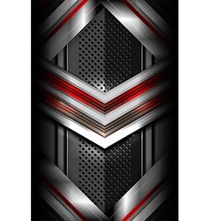 modern dark metallic background vector image