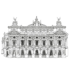 opera garnier in paris vector image
