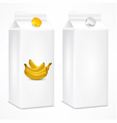 packing template for banana vector image