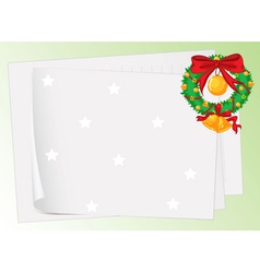 paper sheets and a wreath vector image