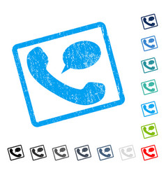 phone message icon rubber watermark vector image vector image