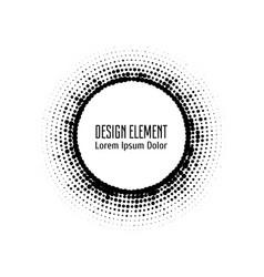 Pop art halftone logo circle vector