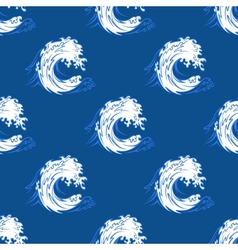 Seamless background pattern of a curling wave vector image