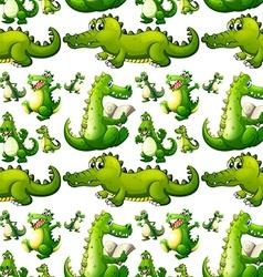 Seamless crocodile doing activities vector image vector image