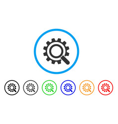 search options gear rounded icon vector image vector image