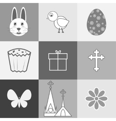 Set of images on the theme of Easter vector image
