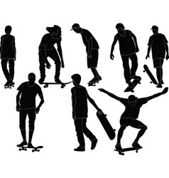 skateboards collection - vector image