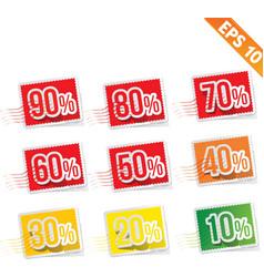 Stamp sale discount - - eps10 vector