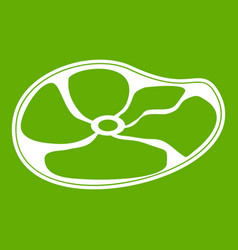 steak icon green vector image