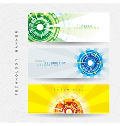 Tech Web Banner vector image