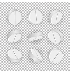 White 3d medical pills or drugs vector