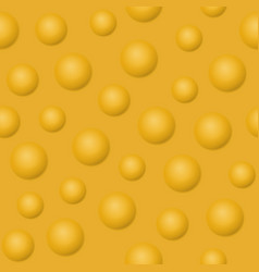 Yellow balls and bubbles seamless pattern vector
