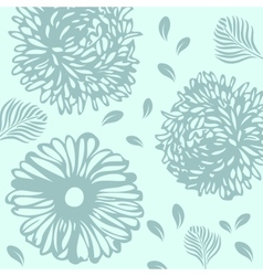 Floral pattern in autumn colors vector