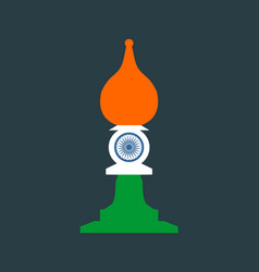 Chess knight figure indian flag vector