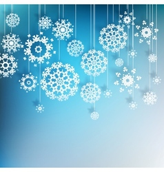 High definition snowflakes on blue eps 10 vector
