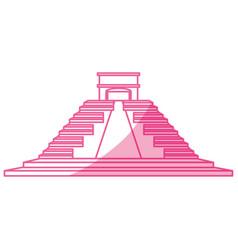 Mayan pyramid monument vector