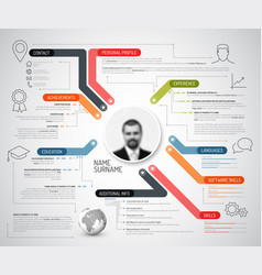 original creative cv resume template vector image