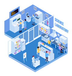 Science laboratory isometric vector