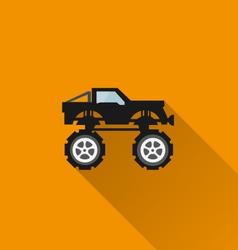 Car icon 8 long shadow vector