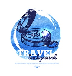 Travel vintage banner vector