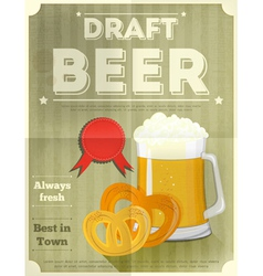 Beer draft poster vector