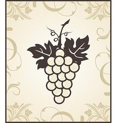 retro engraving of grapevine - vector image