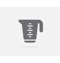 Measure measuring cup element or icon ready for vector
