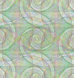 Colorful wire spiral pattern vector