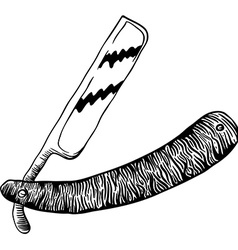 Simple black and white razor vector