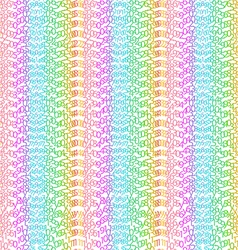 Matrix concept rainbow and white background vector