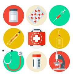 Medical tools icons set medical background vector