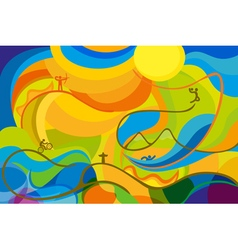 Rio 2016 abstract colorful background vector