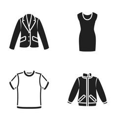 A mans jacket a tunic a t-shirt a business suit vector