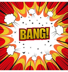 Bang comic cartoon vector image vector image