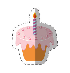 Birthday cake candle sweet vector
