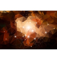 Brown polygonal abstract shiny background vector