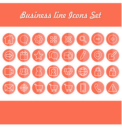 business line color icons set vector image