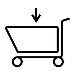 Caddie shop shopping icon vector