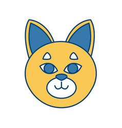 Cat head cartoon vector