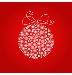 Christmas and New year ball made from snowflakes vector image