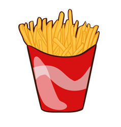Colorful french fries concept vector