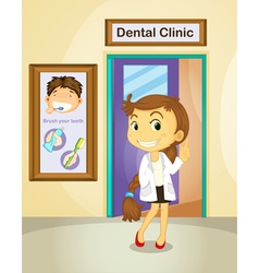 Dentist poster vector