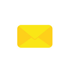 Flat design style of closed envelope vector