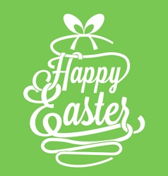 Happy Easter calligraphy vector image vector image