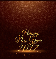 Happy new year 2017 holiday greeting in vintage vector