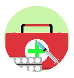 Health care app icon vector
