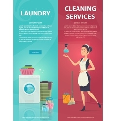 Housekeeping vertical banners vector