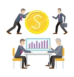 Investment and business planing concepts vector