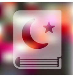 Koran icon on blurred background vector